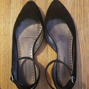 Black ankle flats